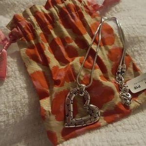 NWT Brighton Pebble Heart Necklace
